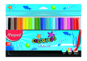 Флумастери MAPED Color'Peps OCEAN, 24 цвята