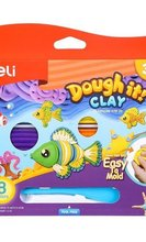 Пластилин Deli Dough it!, 8 цвята