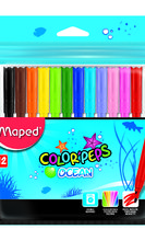 Флумастери MAPED Color'Peps OCEAN, 12 цвята